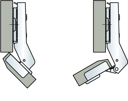 Meaton pantry hinge 45 degree technical diagram