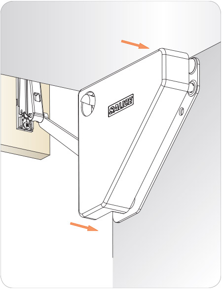 Diagram for installing the cover