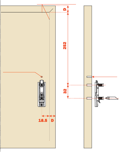 Diagram for drilling pattern
