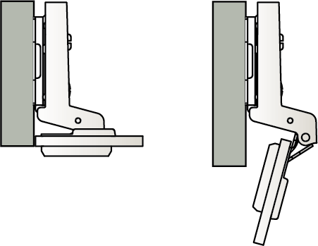Samsung full overlay glass door hinge technical diagram