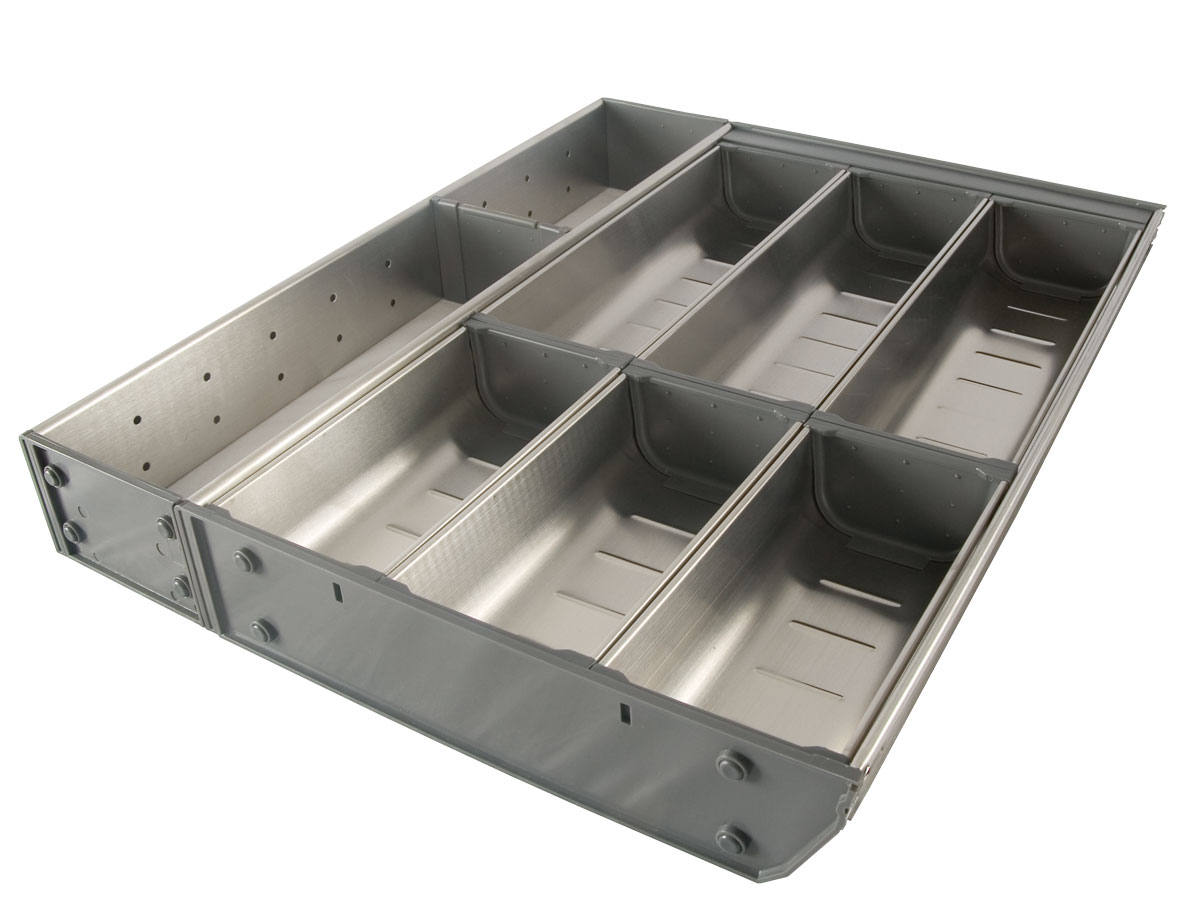 Stainless Steel Cutlery Tray 4 Rows